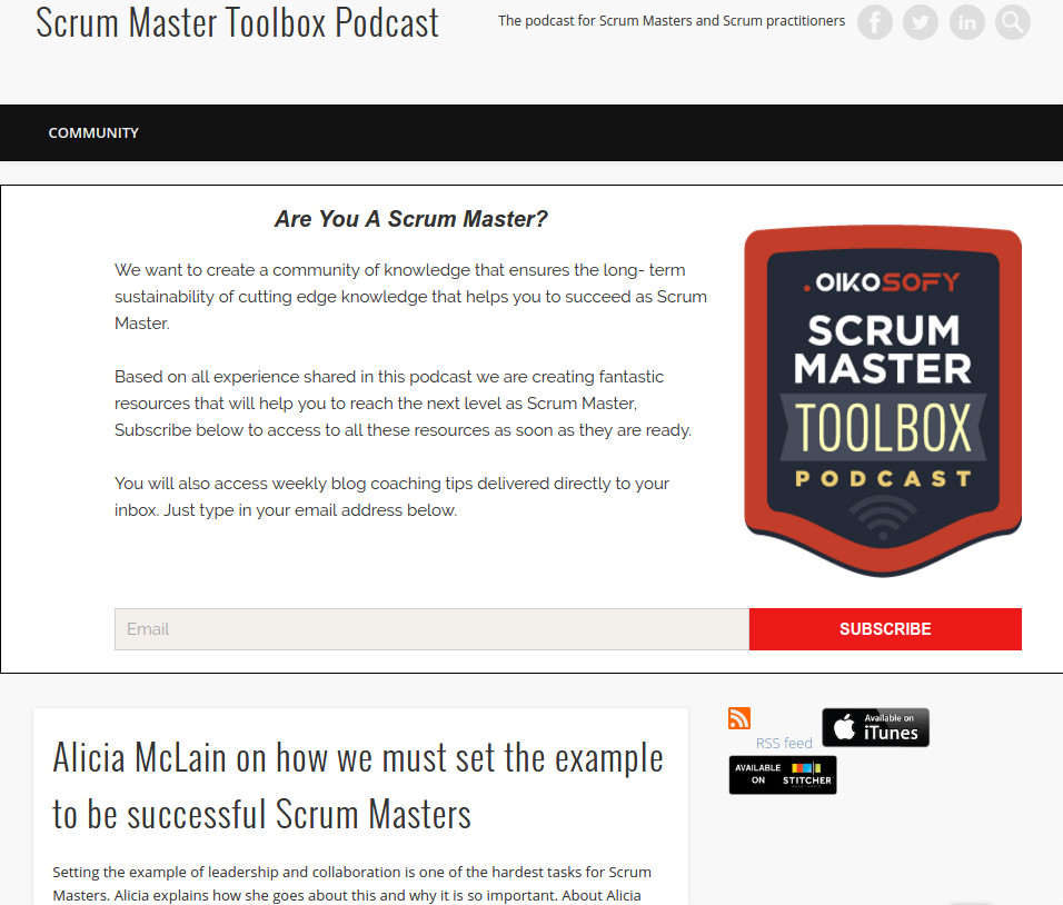 Scurm Master Toolbox podcast