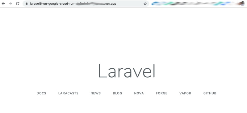Laravel Running on Google Cloud Run