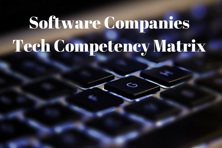 Software Companies Tech Competency Matrix